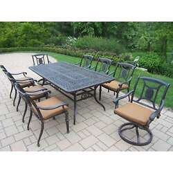 Oakland Living Victoria 9-Piece Outdoor Extendable Table Dining Set