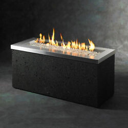 Outdoor Greatroom Company Key Largo Linear Burner Design Fire Pit KL-1242-SS