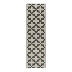 Momeni Baja Charcoal Outdoor Rug BAJA0BAJ12CHR2376 2-ft 3-in x 7-ft 6-in Runner