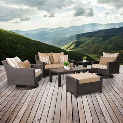 RST Brands Deco Maxim Beige 6-Piece Deluxe Love and Motion Club Seating