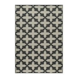 Momeni Baja Charcoal Outdoor Rug BAJA0BAJ12CHR5376 5-ft 3-in x 7-ft 6-in