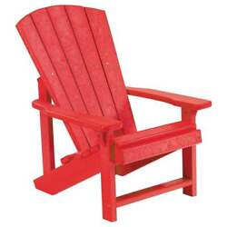 CR Plastic Products Generations Kid's Adirondack Chair C08-01 Red