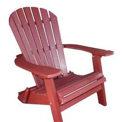 Phat Tommy Deluxe Folding Recycled Poly Adirondack Chair 405-ADIRONPOLY.DKRED