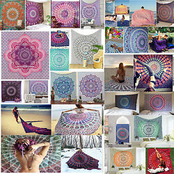 5PC Wholesale  Decor Bulk lot Ombre Poster Tapestry Wall Hanging Yoga Mat Indian