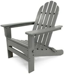 Outdoor Furniture Cape Cod Stepping Stone Folding Plastic Adirondack Chair