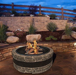 Outdoor Table Centerpiece Above Ground Large Open Fire Pit Burner Ring Firebowls