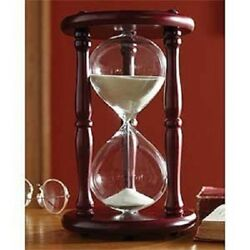 Wooden Sand Hourglass Large Clock Vintage 9.5'' One Hour Retro Timer Decoration