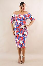 Multi Color Plus Size Fox gloves Floral Bodycon Spandex Dress. Plus Size 2XL. $21.15