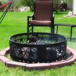 CAMPFIRE FIRE PIT RING HEAVY DUTY STEEL Firepit Ring Backyard Campground