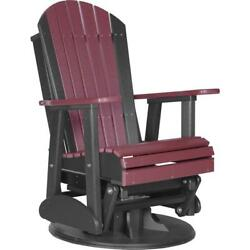 LuxCraft 2 Foot Adirondack Recycled Plastic Poly Swivel Glider Chair