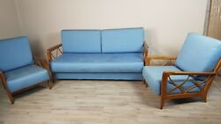 20th MidCentury 50s Pair of Antique armchairs Sofa Italian Design Paolo Buffa