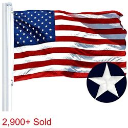 4'x6' ft American Flag US USA  EMBROIDERED Stars Sewn Stripes Brass Grommets $16.99