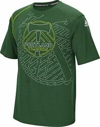 Mens Portland Timbers Green Frequency Climalite Synthetic Shirt by Adidas $39.95