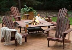 Fire Pit Patio Furniture Set Outdoor Adirondack Chairs 50