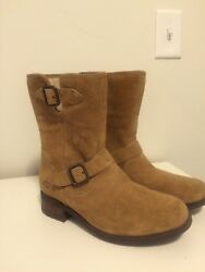 Ugg with Buckles Tan Shearling Womens size 8 Great Condition $80.00