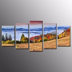 Landscape Print Wall Art Canvas Oil Painting for Home Decor Mountain $81.00