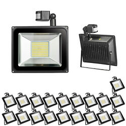 20X 100W LED PIR Motion Sensor Flood Light Outdoor Accent Fence Lamp Waterproof