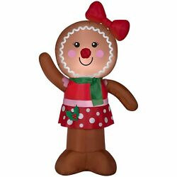 Gingerbread Inflatable Airblown ChristmasGirl 4 Gemmy Yard Decor Outdoor Holiday