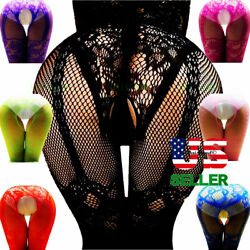 Sexy Lingerie Bodystocking Stockings Babydoll Bodysuit Nightwear Lace Sleepwear $7.22