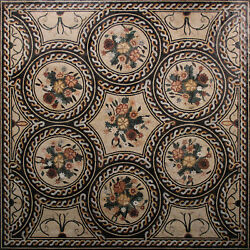 Floral Ring Frame Square CHARM RUG 79