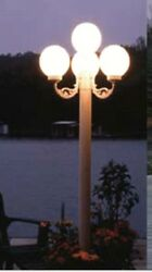 Patio Party Light Post plug in ready