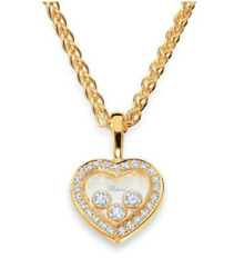 New Chopard Happy Diamond Pendant Necklace 793502-0001 wCertificate