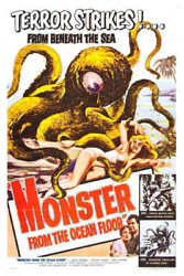 1954 MONSTER FROM THE OCEAN FLOOR VINTAGE MOVIE POSTER PRINT STYLE A 36x24 9 MIL $29.95