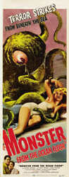 1954 MONSTER FROM THE OCEAN FLOOR VINTAGE MOVIE POSTER PRINT STYLE D 36x14 9 MIL $19.95