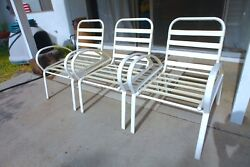 Vintage Finkel Patio Lawn Chairs (Set of Three) Ships Nationwide!