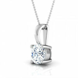 WEDDING 2.50 CARAT D VS2 ROUND CUT DIAMOND PENDANT 14 K WHITE GOLD NECKLACE