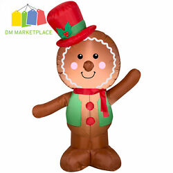 Christmas 4' Gingerbread Man Inflatable Christmas Blow Up Outdoor Decor Yard NEW