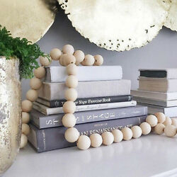Wooden Bead String Kids Baby Bed Pendant Room Decor Rustic Wall Wedding Vase $5.46