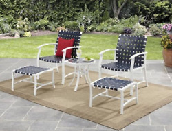 Small Outdoor Conversation Set and Chairs Patio Chat Table Deck RV Furniture