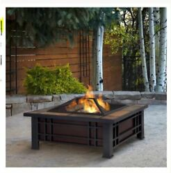 Wood Burning Fire Pit Outdoor Patio Fireplace Backyard Heater Steel Campfire New