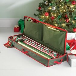Real Simple Holiday Gift Wrap Under Bed Wrapping Paper Storage organizer holder