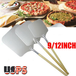 1Pc Kitchen Aluminum Alloy Pizza Peel Bakers Oven With Wooden Handle