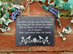 The Kiss Of The Sun For Pardon The Song Of The Birds For Mirth Slate Sign2 sizes GBP 9.99