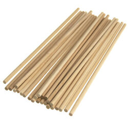 Wooden Craft Dowel Sticks Natural 10 Inch 25 Piece $6.95