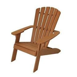 Outdoor Foldable Wood Patio Adirondack Chair Lawn Deck Garden Furniture Brown