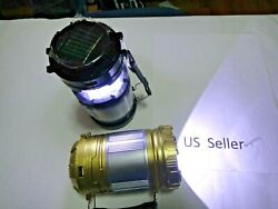 2 in 1 Solar Camping Lantern Lamp Portable Outdoor Rechargeable LED Tent Hiking $10.78