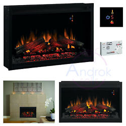 Classic Flame Electric 36'' Fireplace Multi Functional Remote Built-in Heater