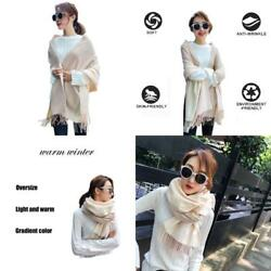 Women'S Soft Cashmere Long ScarfWarm Wool Large Shawls And Wraps In Winter(Yell