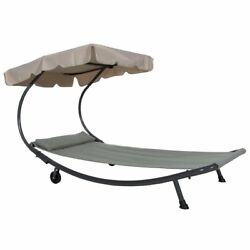 Abba Patio Outdoor Portable Chaise Lounge Chair Hammock Bed with Sun Shade and