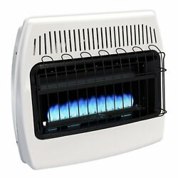 Wall Heater Wall Mounted Propane Manual Vent Free 30000 BTU Heats 1000 Sq. Ft