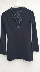 NWT Esperanza NEW YORK Women#x27;s Special Occasion Sweater with Crystals Sz S $29.99