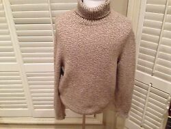 $1995 Ermenegildo Zegna BEIG White Cashmere Turtleneck Sweater  HAND MADE ITALY