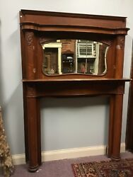 antique fireplace surround quarter sawn oak mantel