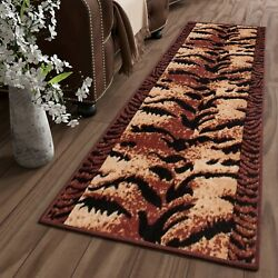 Cheap Runners for Hallway Brown Beautiful Animal Skin Pattern Small Extra Large