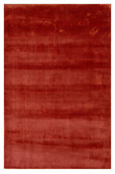 Handmade Woven Knotted Soft Tencel Lyocell Silk Stain-proof Carpet Area Rug Red