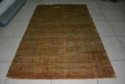 Handmade Woven Knotted Soft Tencel Lyocell Silk Stain-proof Carpet Area Rug Gold